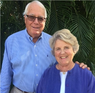 Ralph and Carolyn Clark. Photo courtesy The Sanctuary Golf Club