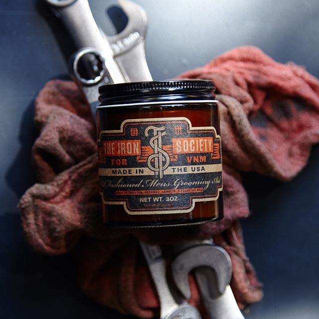 New work for @theironsociety. Really nice #pomade with great scents, handmade here in Portland.