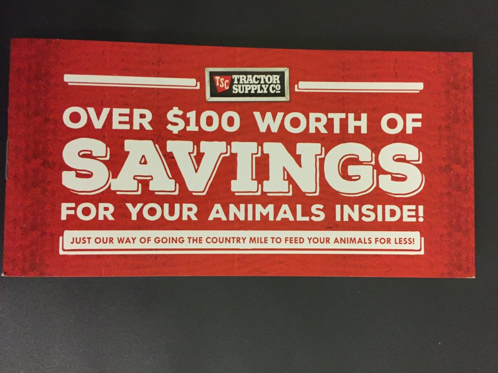 Tractor supply Coupon books .jpg