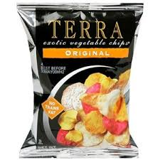 Terra - If you're going for a chip, these root based veggies are a satisfying healthier choice.
