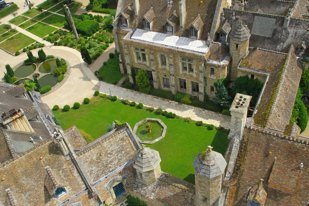 Aerial shot of Parisian Abbey