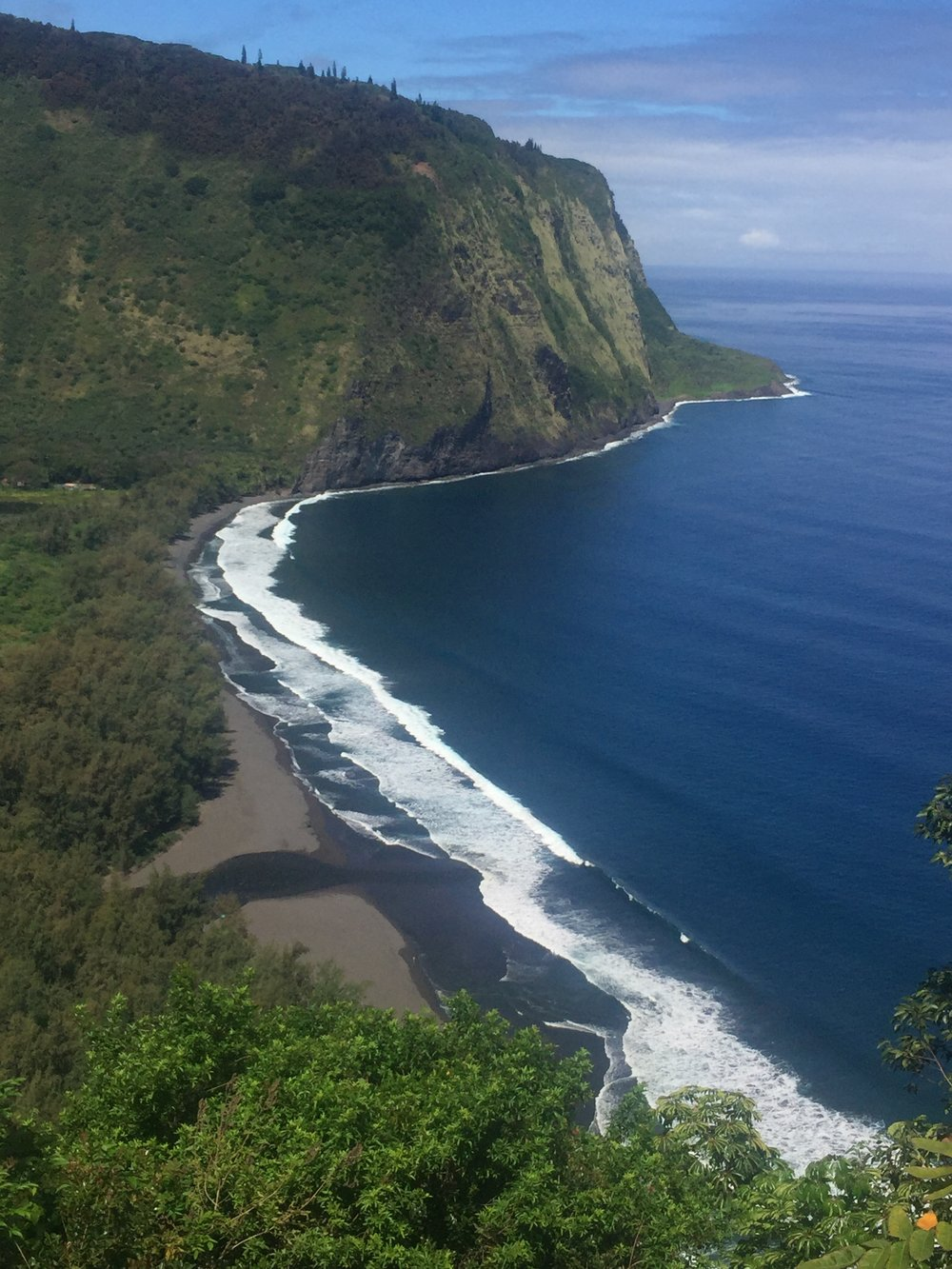 Where we hiked down to Waipio Valley, some very kind soul drove us up the 1,200 foot climb.
