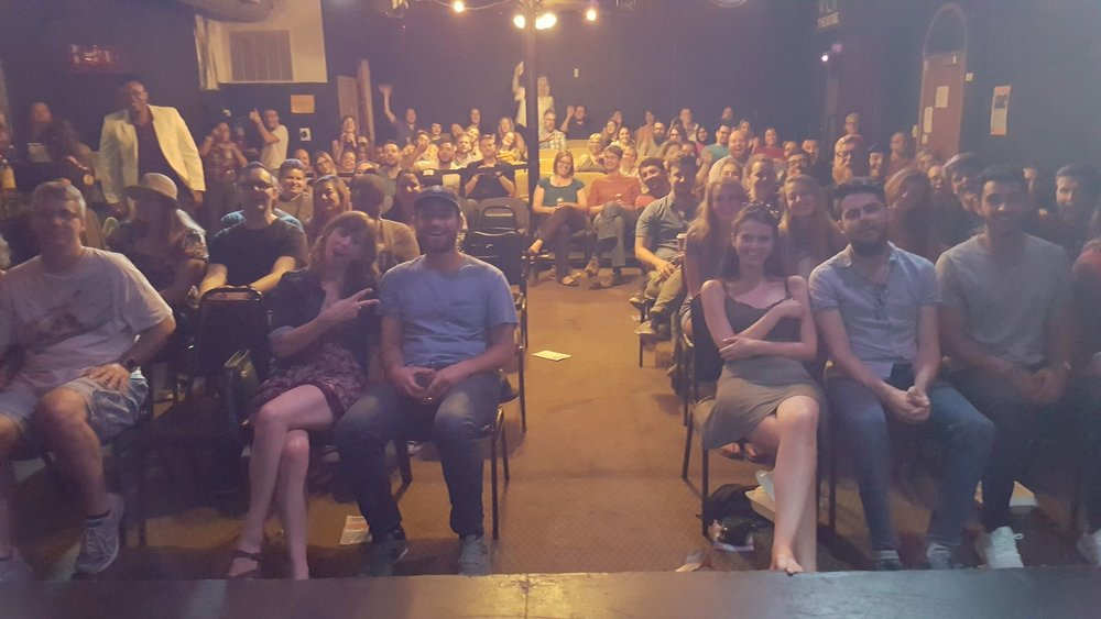 Crowd for the Saturday show at The Kick Comedy Theater