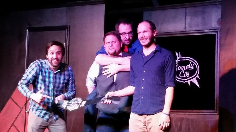 The Otters after one of our two Improv Thunderdome wins. I think I still have that belt.