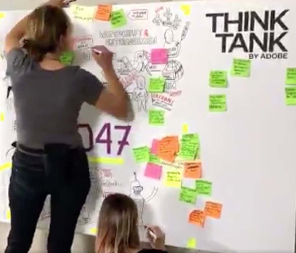 "Zeitraffer beim Adobe Think Tank ""Future of Work"""