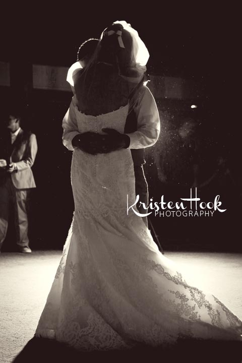 backlit first dance