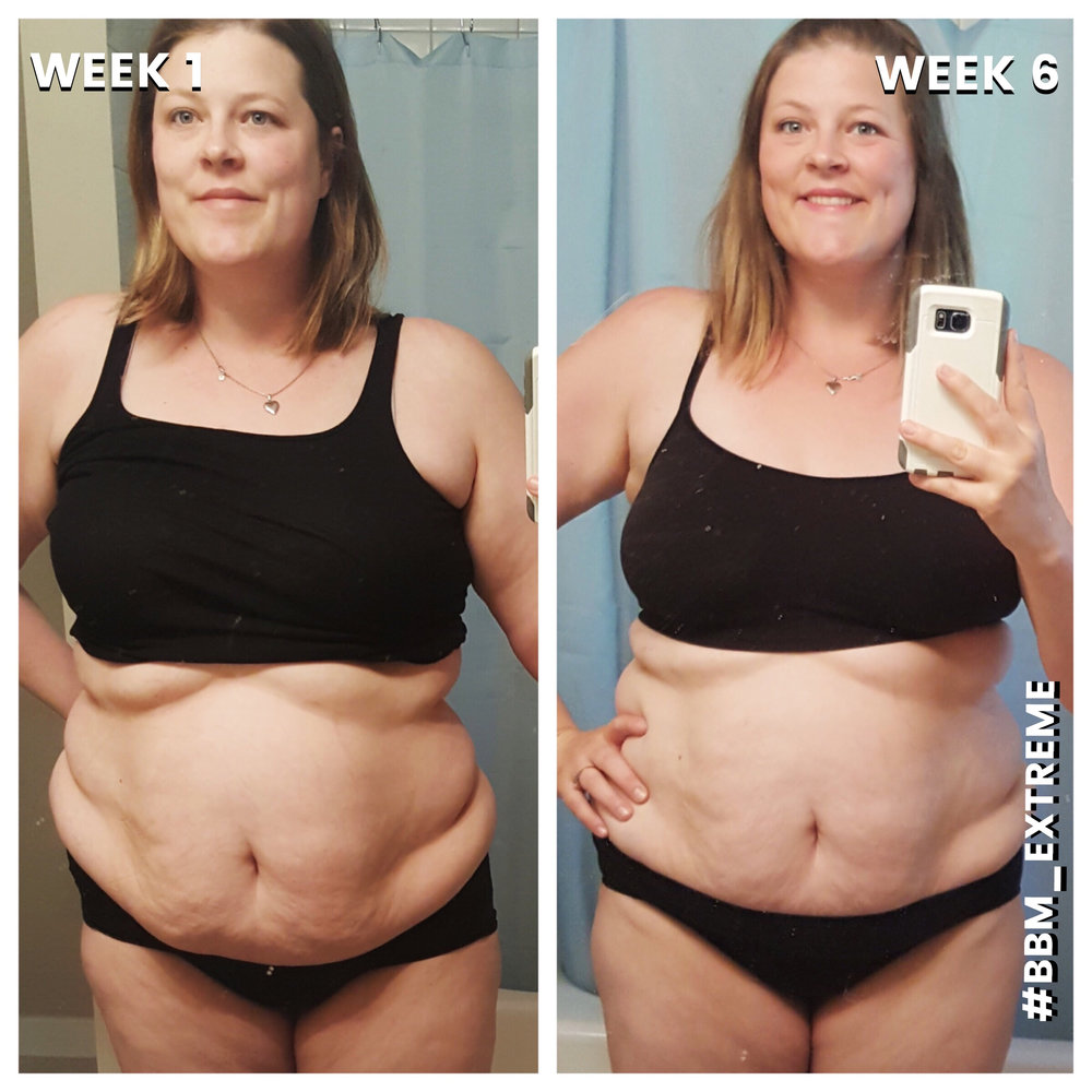 "Hyla lost 15 POUNDS & 20 INCHES on EXTREME!  ""Extreme is AMAZING! If you are looking for some meal plan direction, killer workouts and meaningful mindset mastery then extreme is definitely for you! I never would have tried this type of meal plan on my own and I am so glad I did with Briana's direction. Her team lays out the steps in an easy to follow method and SO DELICIOUS! Do not let 20 minute work outs fool you! They KICK YOUR BUTT! I loved the compound moves and four rounds of tabatas. If you follow the plan, you will certainly see results! I also cannot say enough about the inner circle - Bikini Body Mommy fosters a positive environment and the accountability and support in the groups are phenomenal. Not only is Briana and Dawn hands on, but you have hundreds of fellow BBM'ers out there on the journey with you cheering you on and offering encouragement."" -- Hyla"