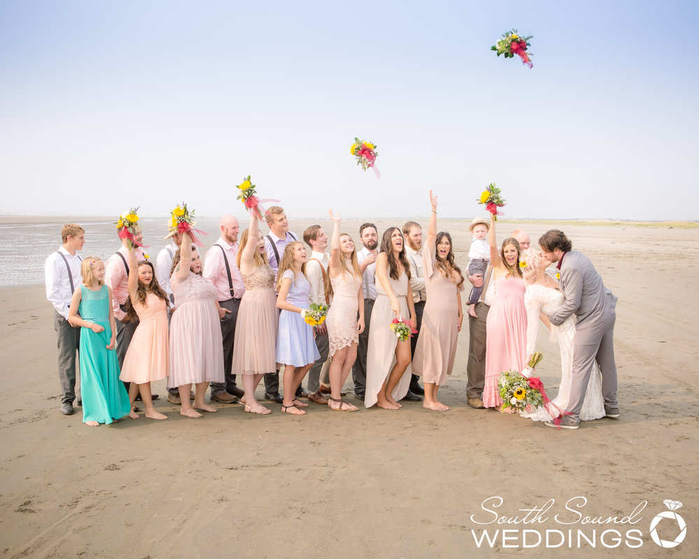 Super fun and energetic bridal party.