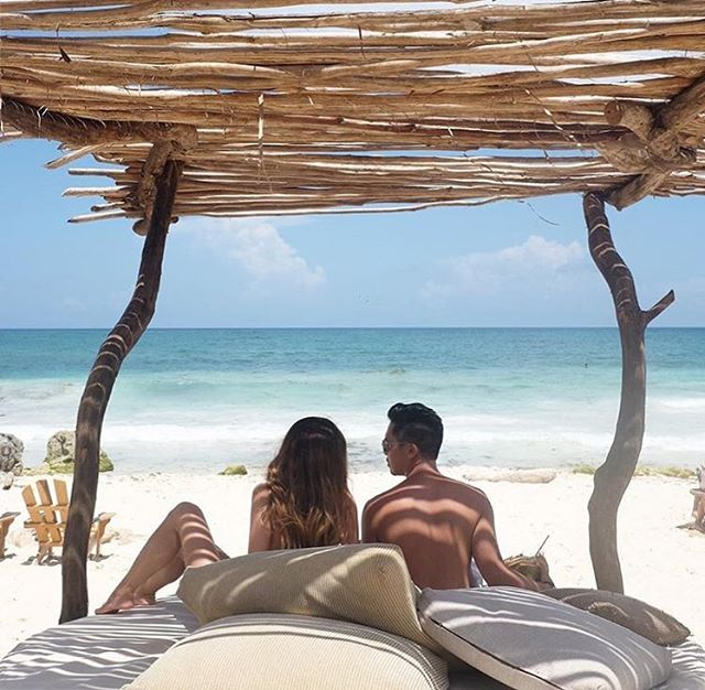 🦋✨Happiness is planning a trip, to somewhere new, with someone you love✨🦋 #CoupleGoals #Love #Wins #Travel #Azulik #Reconnect #Happy #Beautiful #Explore #Weekend #Views #Romance #AzulikBeachBar #Vacation #Goals #Adventure #Nature #Magic #Trip #Endless #Couple #Mermaid #Life #Saturday #LovedByGuests #Tulum #Mexico #Repost 📷@kev.reb.ganzon