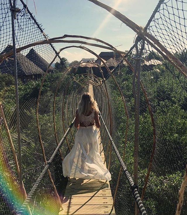 🌴🌈Love is the bridge between you and everything 🌈🌴#BuildBridges #NotWalls #Love #BeLoved #Romance #Travel #Goals #Azulik #Tulum #Treehouse #Jungle #Beautiful #LoveIsLove #ReconnectionSanctuary #Mexico #Path #Explore #Amazing #Nature #Go #Get #Lost #Vacation #Holiday #Rainbow #HakunaMatata #LovedByGuests #Paradise #Adventure #RePost 📷@williams_jenny