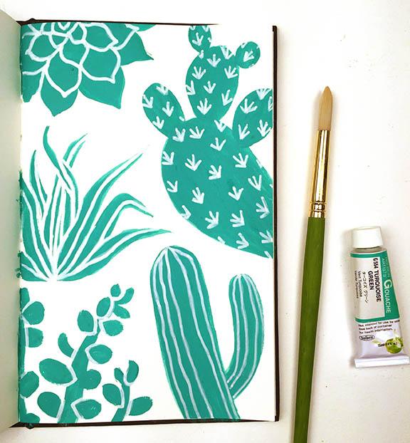 bluegreen cactus