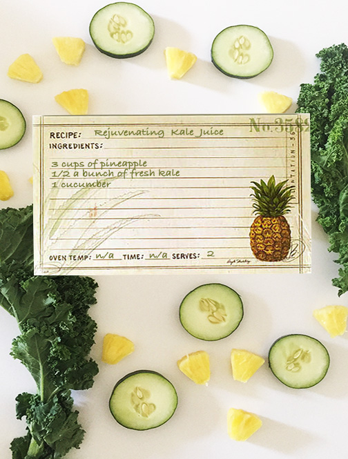 Pineapple Recipe Card Collage - Angela Staehling