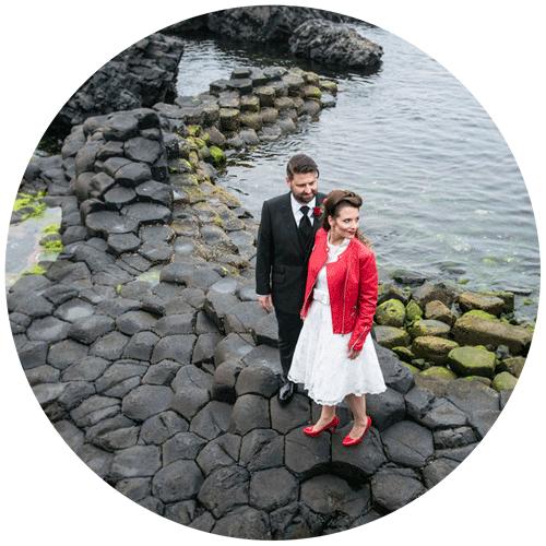 zum heiraten nach irland    giant`s causeway