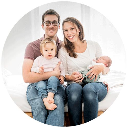 entspannte familienfotos zu viert   willkommen jakob