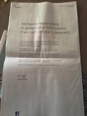 Mark Zuckerberg's newpaper apology