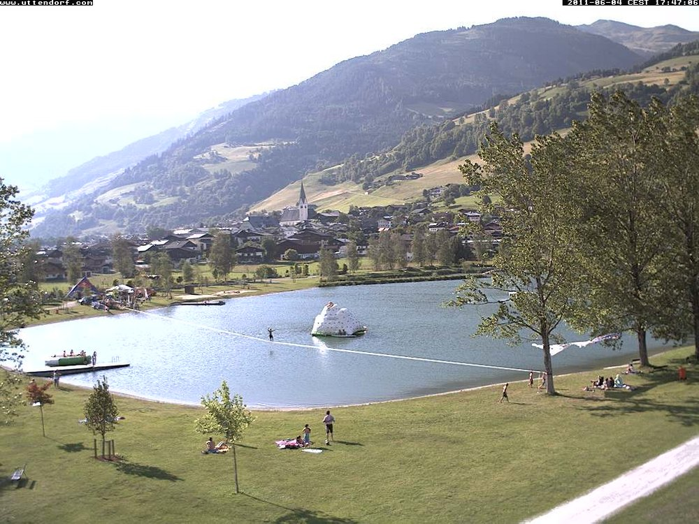 webcam of the 140 m waterline world record in Austria