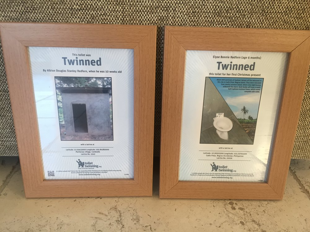 great cause its a bit like the concept of twinning a town with another one in another country but this is even closer to home as its your own toilet