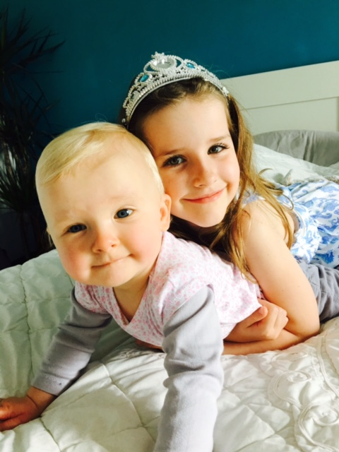 My friend's gorgeous girls with a 5 ½ year age gap.