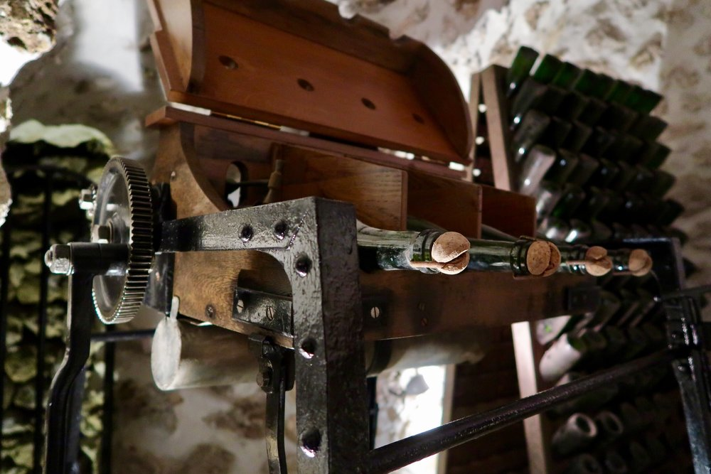 Old wine/champagne making machinery