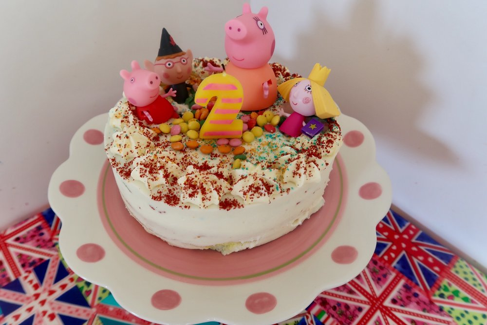 Cake Hack (inspired by Alison's Five Little Stars Instagram post) - if you don't have time to make from scratch - use little figures you already have on top of a shop bought cake!