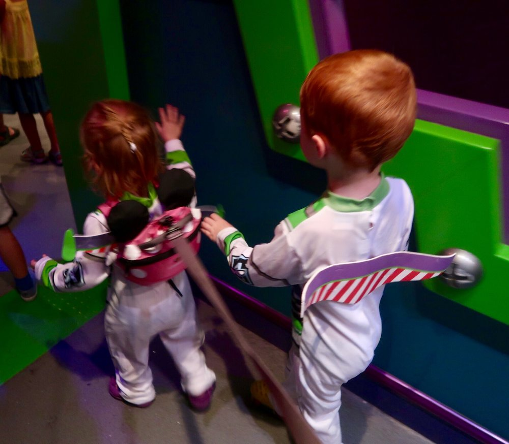 "My 2 Buzz Lightyears ""Fast Passing"" with their costumes!"