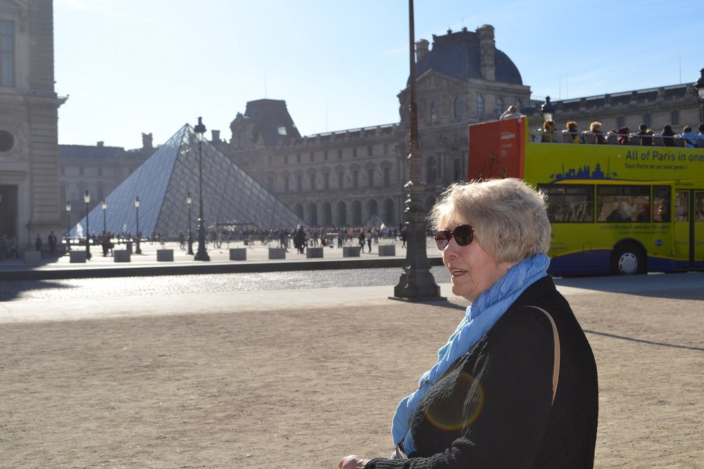 My Grandma was also fast-tracked into the Louvre.