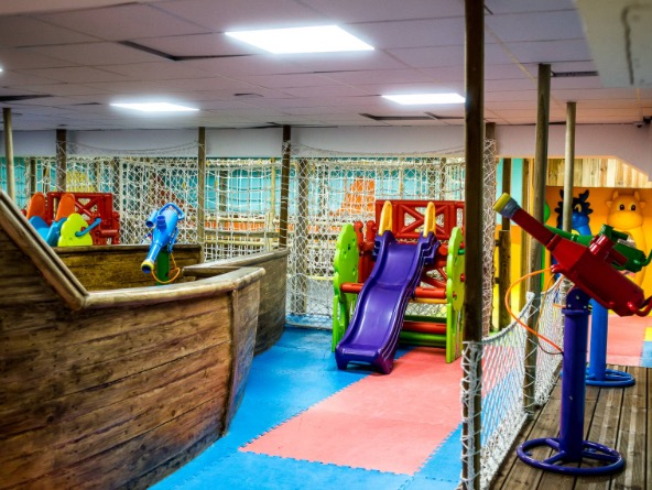 Photo of Chez He play centre downstairs - from their website.