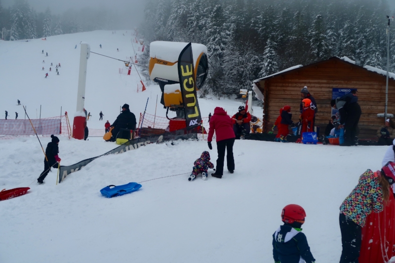 The sledging area in Ax les Thermes