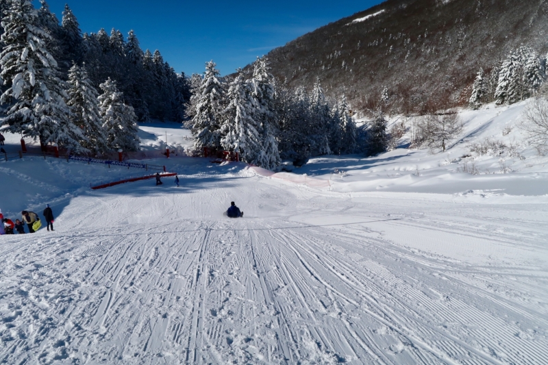The sledging zone in Ascou-Pailhères - pretty epic!