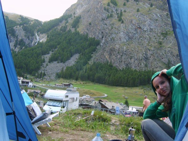 Honeymoon in Cogne, Italian Alpine range 2007. Not a Spa in sight!