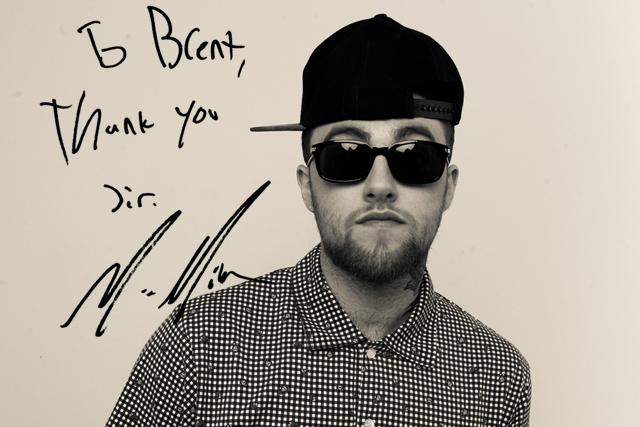 mac miller autograph