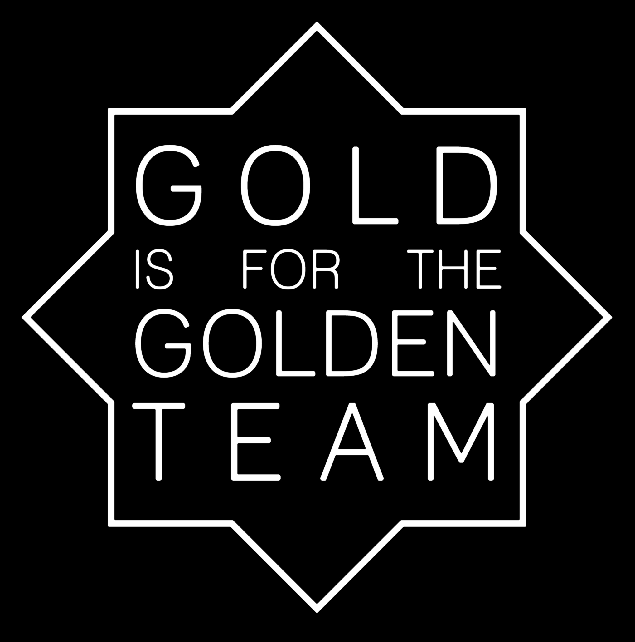 Golden team logo black