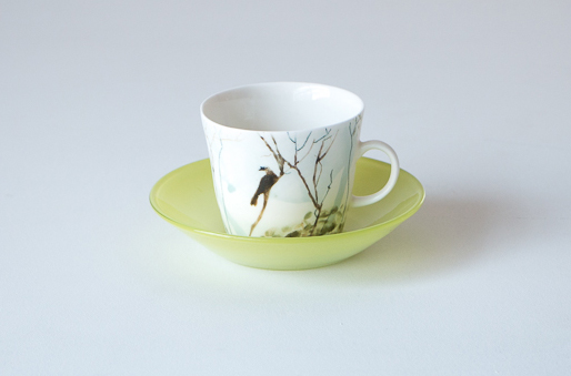 cup with bird