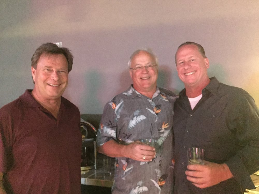 John Ilten, Iltens, Inc.; Guy Gast, The Waldinger Corporation; and Jim Myers , Sheet Metal Connectors enjoy some networking and beverages at TopGolf on Friday night.