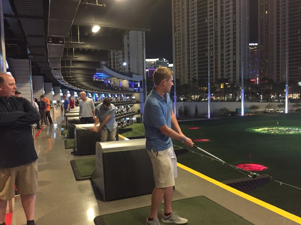 It was a beautiful night for hitting some balls and drinking some beverages at TopGolf.