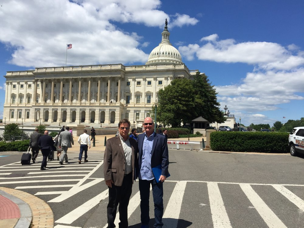 John Ilten and Bill Johnson at the US Capital