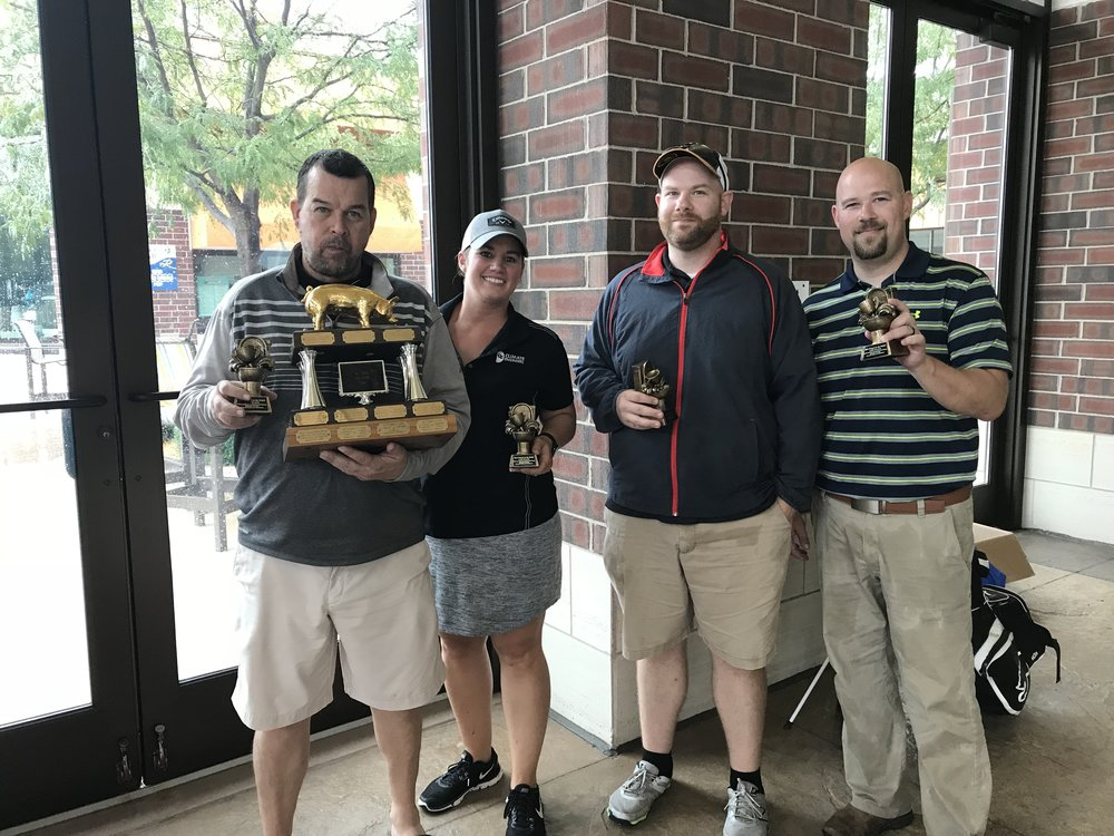 Last place trophy winners were Paul Hartke, Karen LaGrange, Rob Wentzel and Jeff Alkema.