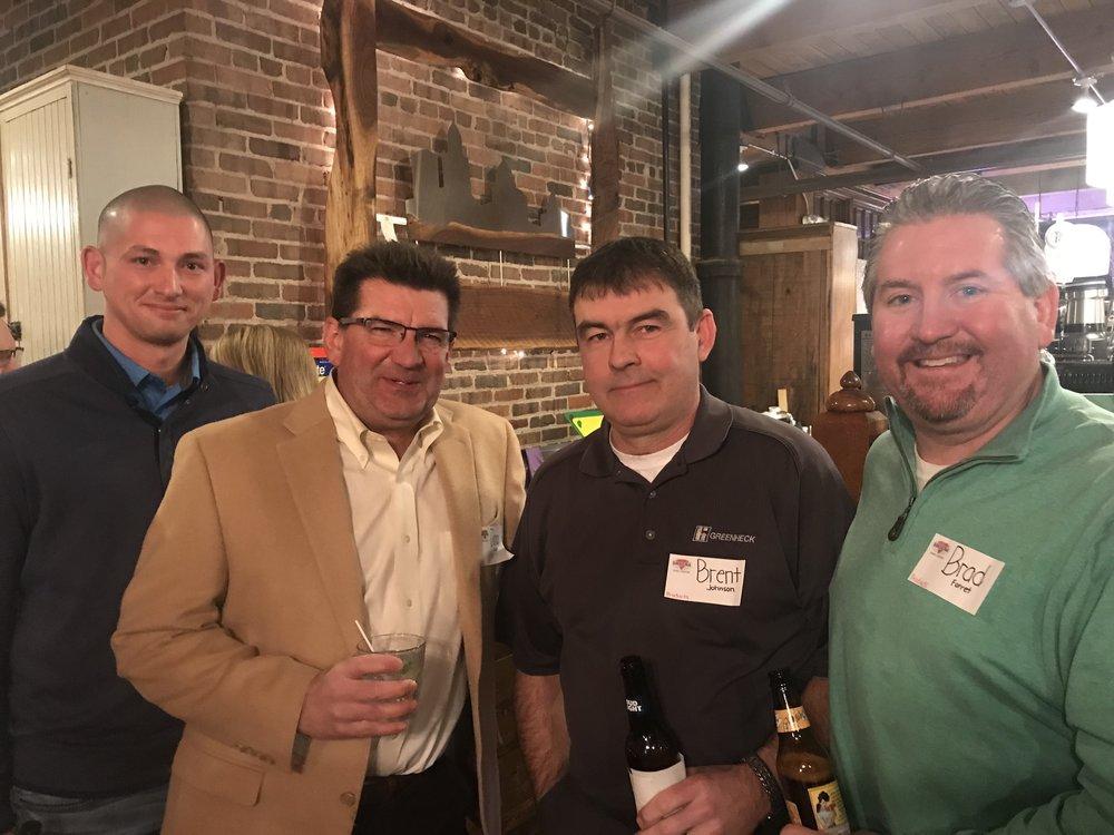 Associate members Ryan Bigg, Dana Kever, Brent  Johnson and Brad Forret