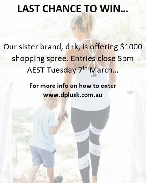 Have you got your entry in? @dplusk.thelabel #beyou #sisterbrand #shoppingspree #winning