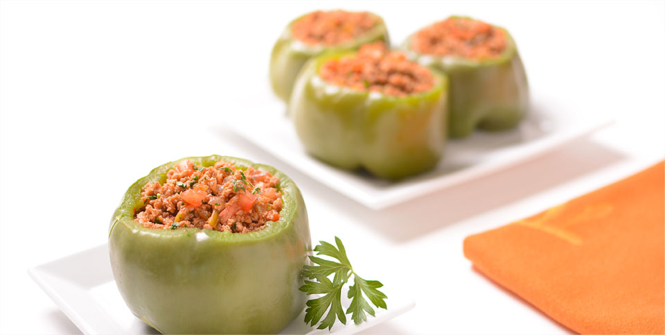 Stuffed Peppers with Ground Turkey - The Malibu Beach Recovery Diet Cookbook