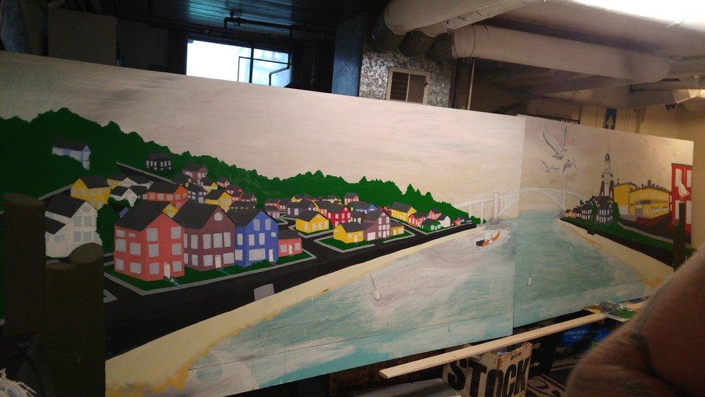 Full mural in progress