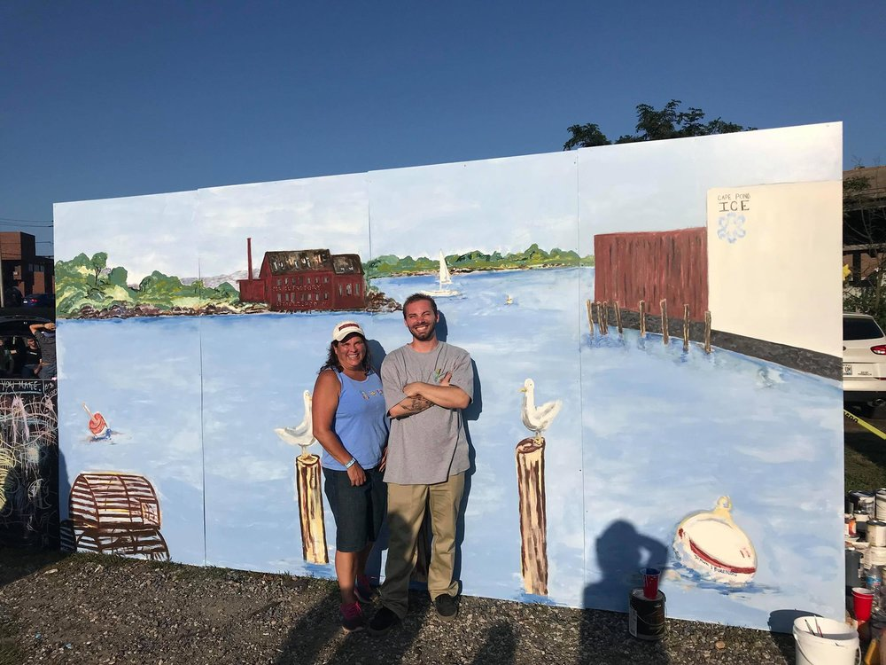 LIVE MURAL WITH FELLOW ARTIST KELLY BROWN