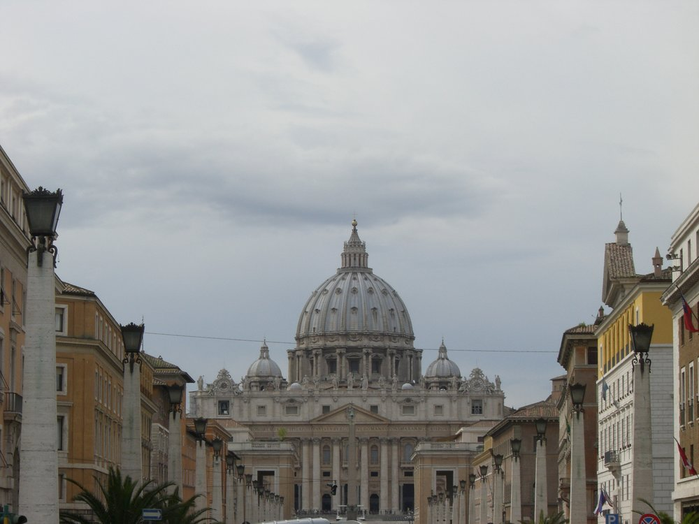 View of St. Peter's Basilica,The Vatican, Rome, Italy