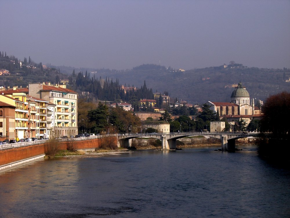 Adige River in Verona