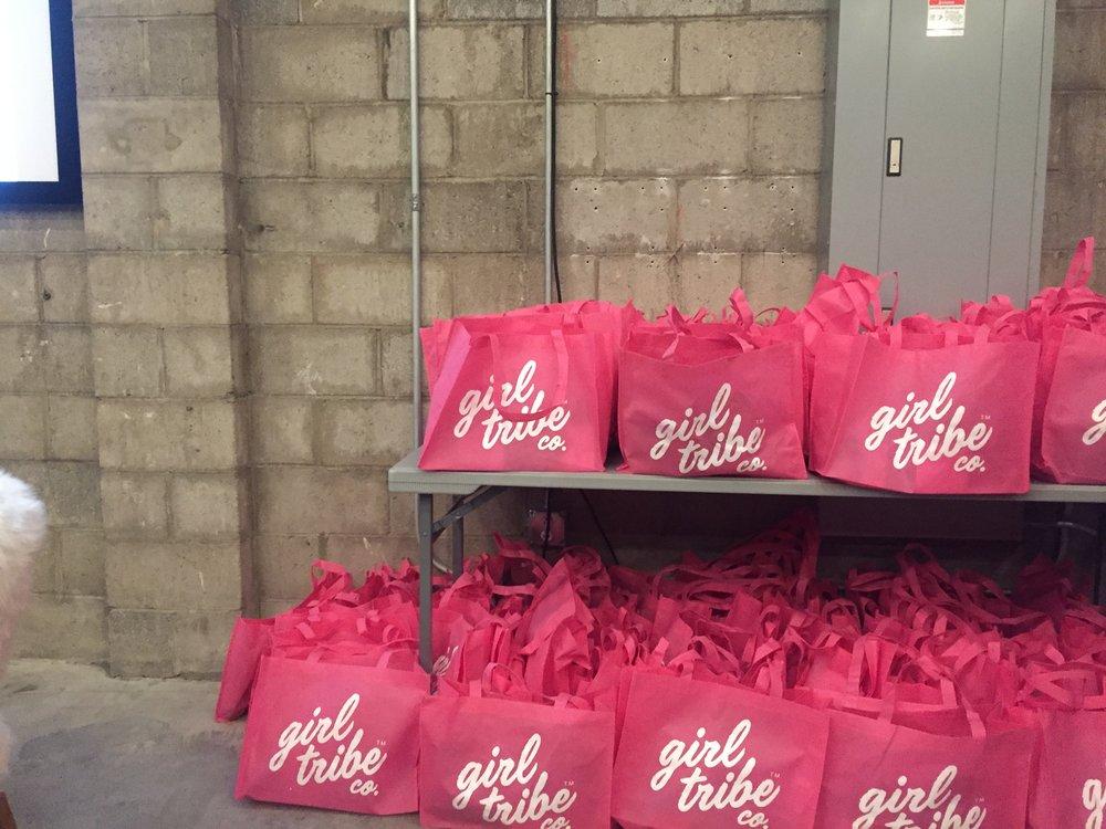 Girl Tribe Girl Talk gift bags