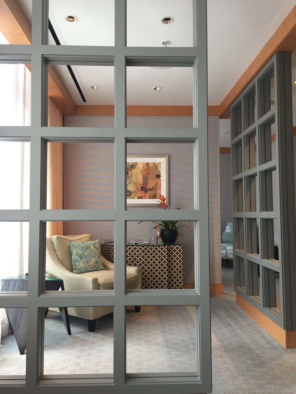 Semi-private area in the ladies' Vitality Lounge