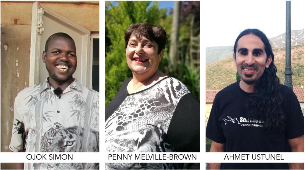Holman Prizewinners: Ojok Simon, Penny Melville-Brown, Ahmet Ustunel