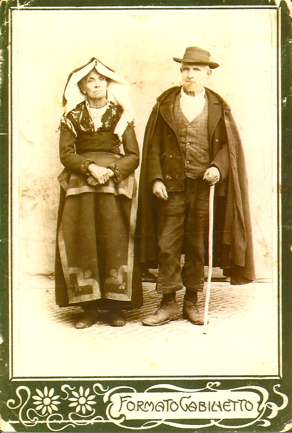 My maternal great-great-great grandparents, in Italy circa 1860s