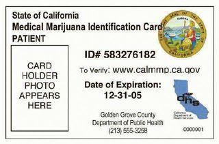 """Does your plastic """"cannabis card"""" look like this?"""