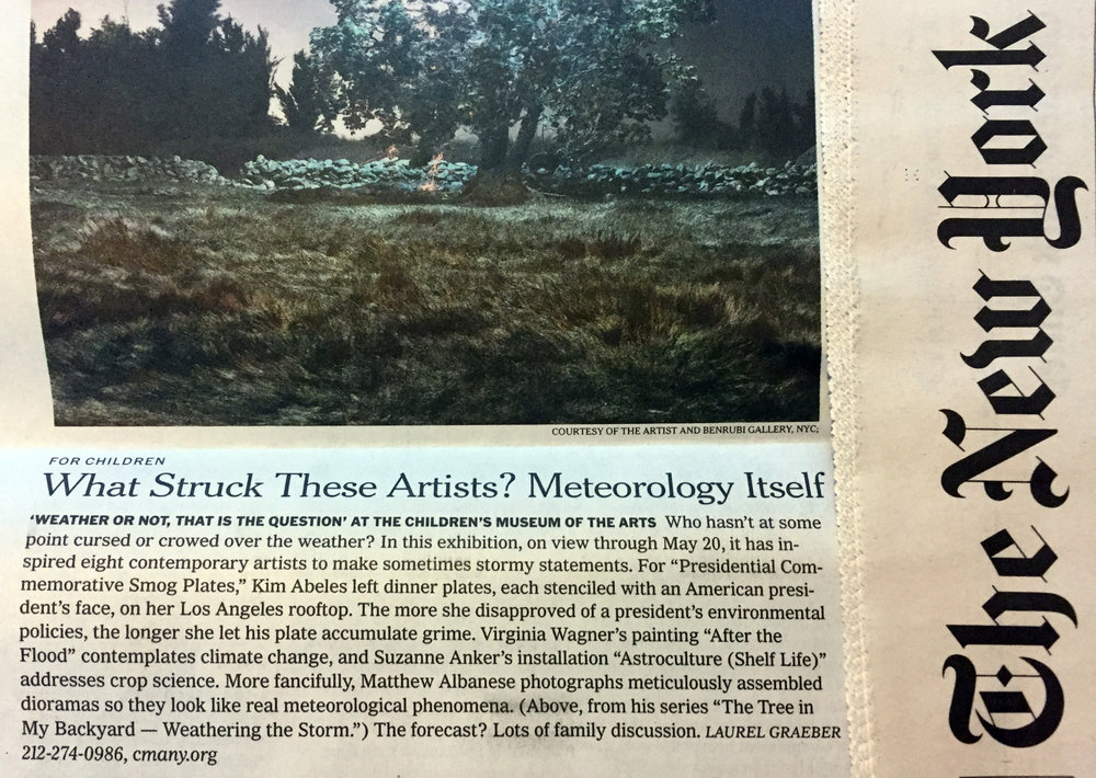 WEATHER OR NOT  at the Children's Museum of Art was written up in the New York Times (March 23)!